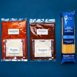 パスタソース2種とグラニャーノ産スパゲッティセット(各ソース約2~3人前)