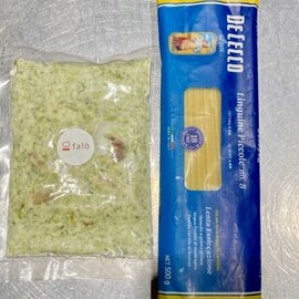 ホタテと青のり 柚子こしょうのクリームパスタソース