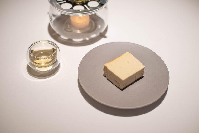 金宣茶のチーズケーキ