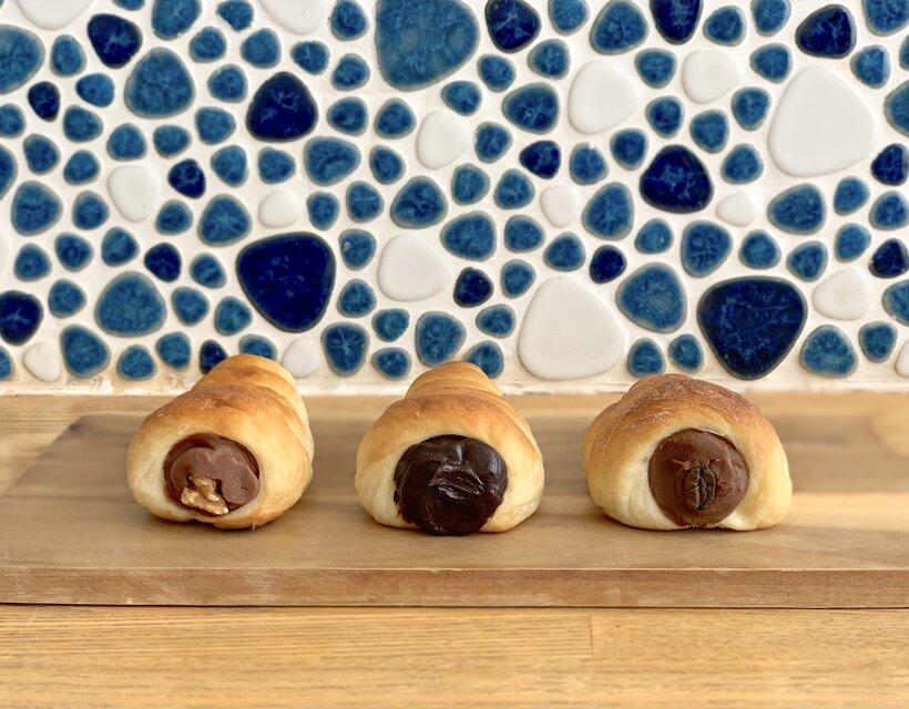 左から、ミルクチョコ、大人ガナッシュ、チョコプレッソ