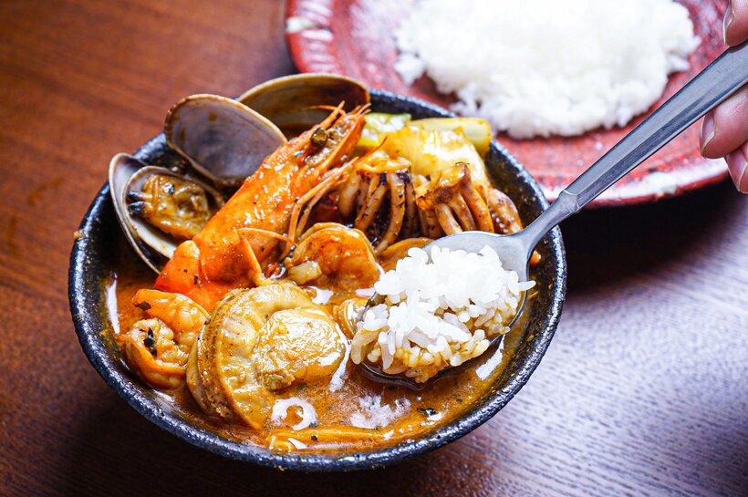 北海道の恵み!竜宮の賄い海鮮スープカレー(500g×2個)